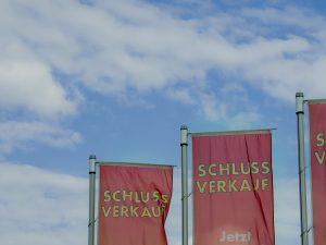 Schlussverkauf in Deutschland.