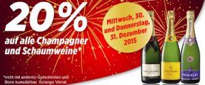 Denner Schaumwein Aktion zu Neujahr