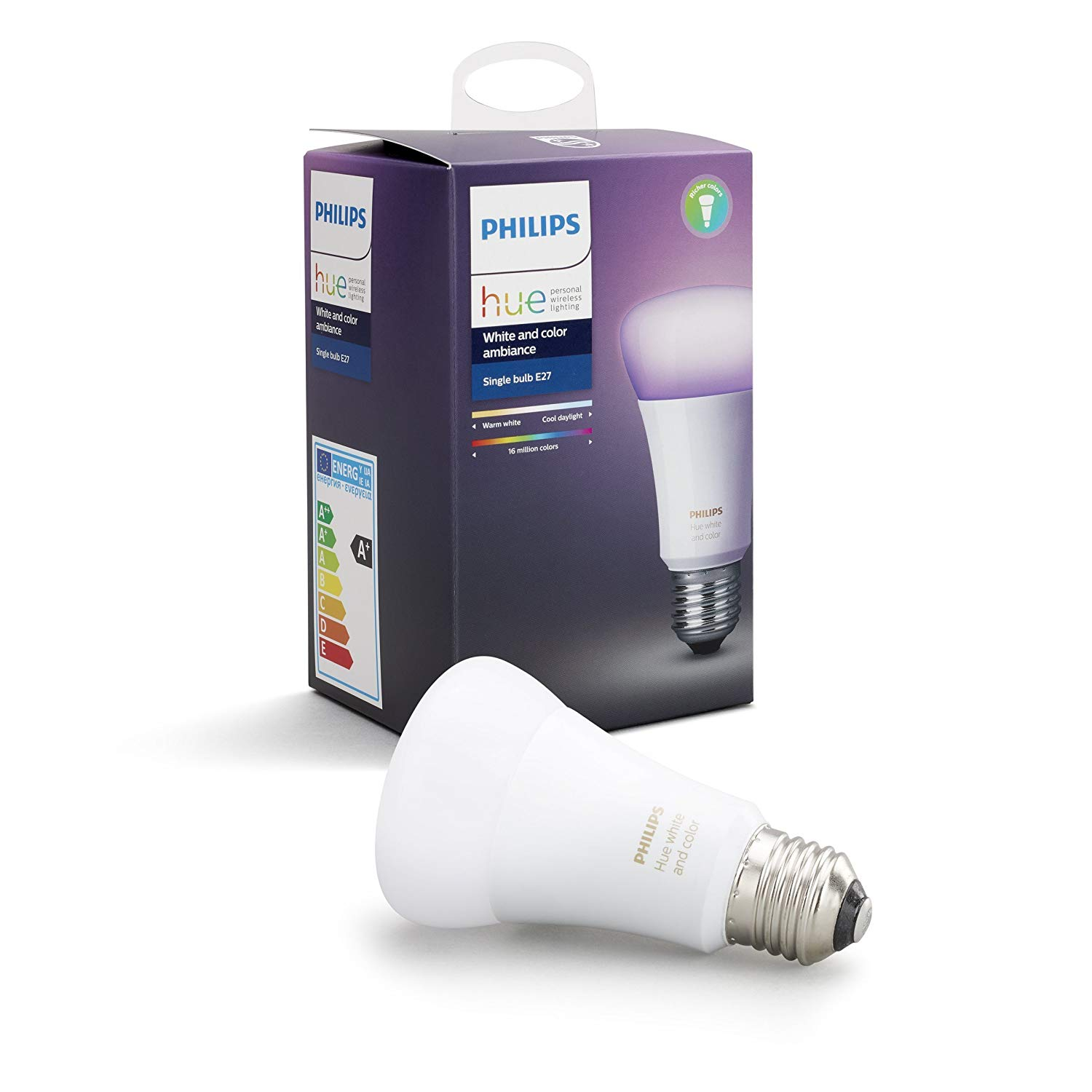 philips hue white color ambiance e27 bei amazon preispirat. Black Bedroom Furniture Sets. Home Design Ideas