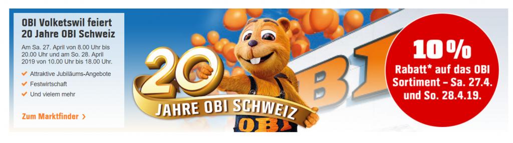 Obi online gutschein