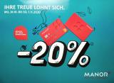 [Vorankündigung] 20% auf alles Non-Food bei Manor sowie 10% auf Technik und Multimedia