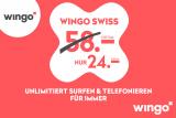 Wingo Swiss Abo für CHF 24.– statt CHF 58.– inkl. Aktivierungsgebühr gratis