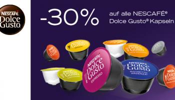 MediaMarkt: -30% auf alle NESCAFÉ Dolce Gusto Kapseln