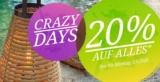 Crazy Days bei Lumimart! 20% Rabatt auf das gesamte Lichtsortiment bis 03.09.