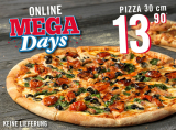 Jede 30cm Pizza 13.90 bei Dominos im Take Away