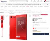 Sony Xperia XZ Premium 64 GB, rot, für 399.00 CHF bzw. CHF 379.-