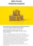 Nur heute: IKEA CHF 50.- Geschenkkarte pro CHF 250.- Einkauf erhalten