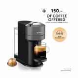 DELONGHI Vertuo Next ENV120.GY Nespressomaschine in Grau und Weiss bei Manor + Kaffee für 150 Franken