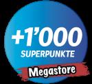 Coop Megastores: +1000 Superpunkte bei Einkauf ab CHF 100.-