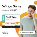 Wingo Swiss bei Alao (Unlimitierte Daten + Anrufe in der Schweiz, Swisscom-Netz)