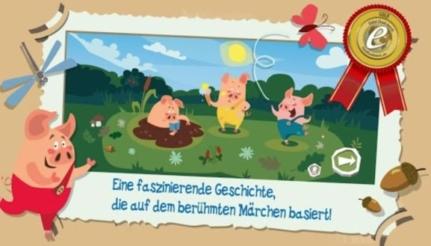 Gratis Android App für Kinder: Drei kleine Schweinchen