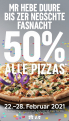 (lokal Basel) 50% auf alle Pizzen bei Domino's