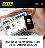 STEG: CHF 10.- Cashback ab CHF 100.- Einkauf bei Bezahlung mit TWINT