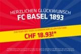 Nur heute 18.93 CHF Rabatt im FC Basel Fanshop