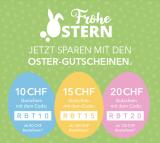 Staffelrabatte zu Ostern bei Shop Apotheke (CHF 10-20.- Rabatt ab MBW CHF 80-150)