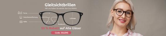 Gleitsichtbrille von Firmoo: 50 % auf Gläser