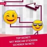 Gratis Webcamsticker-Karte TOP SECRET