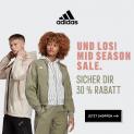 Adidas Mid-Season Sale: 20-30% Rabatt mit Gutschein