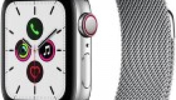 Apple Watch Series 5, Edelstahl, Cellular Silber 44 mm zum absoluten Bestpreis