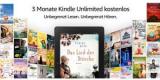 Kindle Unlimited 3 Monate kostenlos – auch als Bestandskunde ohne laufendes Abo (Kündigung notwendig)