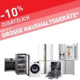 Nur heute: 10% auf alle grossen Haushaltsgeräte bei Conforama, z.B. Waschmaschine mit Trockner SAMSUNG WD80M4453JW/WS für CHF 629.10 statt CHF 1299.-
