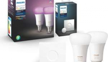 Philips Hue White & Color Ambiance E27 – Doppelpack & Smart Button Bundle bei Amazon FR