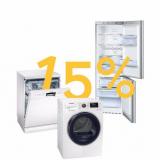 15% auf alle Haushaltsgrossgeräte bei Galaxus, z.B. Kühlschrank Siemens GS54NAW42 für CHF 694.45 statt CHF 817.-
