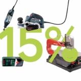 15% auf Maschinen und Elektrowerkzeuge bei Galaxus, z.B. Bosch EasyCut 12 – mit Akku/Ladegerät für CHF 149.60 statt CHF 176.-