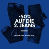 50% auf die zweite Jeans bei WE Fashion, z. B. 2 x Damen-skinny-hose mit mid-ris für CHF 89.93 statt CHF 119.90