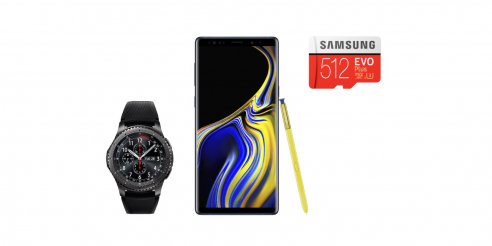 digitec Samsung Note9 Aktion: Doppelter Speicher und gratis Gear S3 Frontier