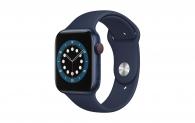 APPLE Watch Series 6 GPS + Cellular, 40mm Aluminiumgehäuse, Blau mit Sportarmband bei amazon.fr
