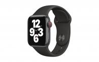 Apple Watch SE 40mm GPS Cellular Spacegrau Sport Schwarz