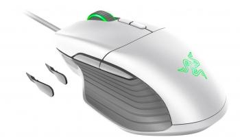 Gaming-Maus Razer Basilisk Mercury White