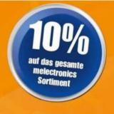 10% melectronics Gutschein einmalig einlösbar bis 31.12.2018