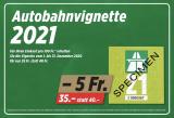 Denner Aktion: Autobahnvignette 2021 für 35.- anstatt 40.-