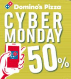 Cyber Monday bei Domino's 50% auf alles