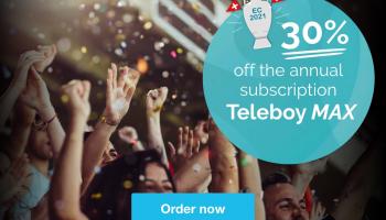 30% auf Teleboy MAX Jahresabo