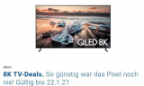 Samsung 8K 75″ für 1'999.– inkl. One Connect Box