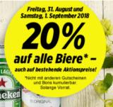 20% auf alle Biere nur heute und morgen bei Denner