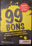 Coop + Tochterfirmen: 99 Bons abholbar in Filiale, gültig bis 27.6.