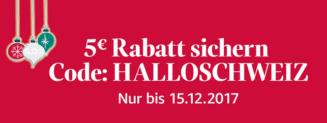 5€ Rabatt bei amazon für Bestellungen in die Schweiz