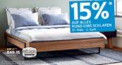15% Rabatt auf alles rund ums Schlafen bei Interio