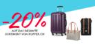 20% Rabatt auf alles von koffer.ch bei siroop