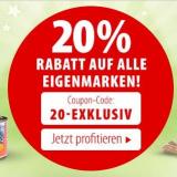 Nur heute: 20% auf alle zooplus-Eigenmarken ab Bestellwert CHF 69.-, z.B. Cosma Nature 6x70g Katenfutter für CHF 5.52 statt CHF 6.90