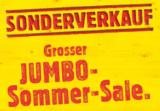 Sonderverkauf – Grosser Jumbo Sommer-Sale (mit Gutscheincodes zusätzlich 25% sparen)