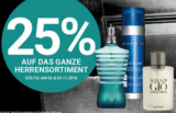 25% auf das Herrensortiment zum Tag des Mannes bei der Import Parfümerie