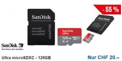 SanDisk Ultra microSDXC – 128GB für 20chf