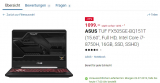 Gaming Notebook von Asus – 1050Ti, 16GB, i7-H, 256GB SSD + 1TBHDD