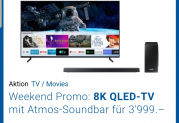 75″ 8K TV mit Dolby Atmos Soundbar bei digitec