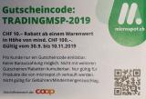 Microspot: CHF 10.- Rabatt ab MBW 100.-